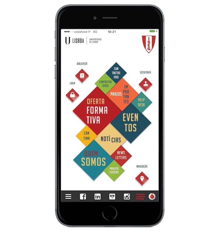 homepage App ISEG Fundação Vodafone