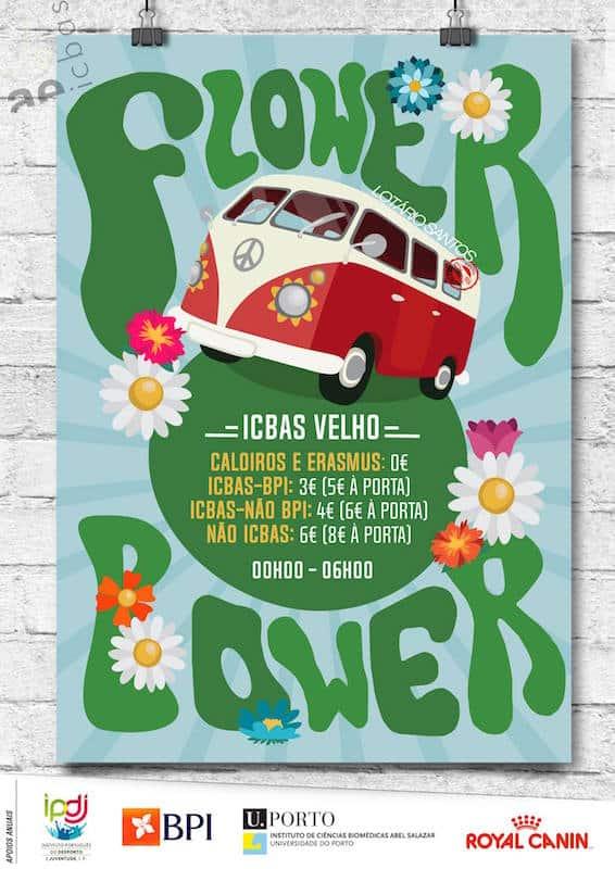Hippies e Flower Power grátis para caloiros no Porto